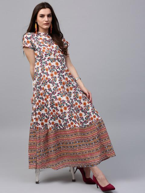 a8223b0ed7 Buy AKS Women Multicoloured Printed Maxi Dress Online in India at ...