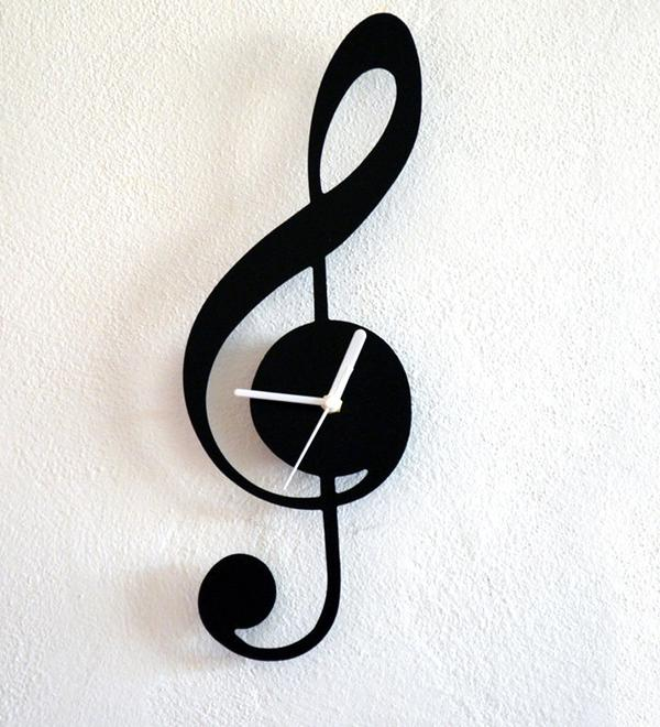 Buy Music Note Contemporary Wall Clock Online In India At Cooliyo