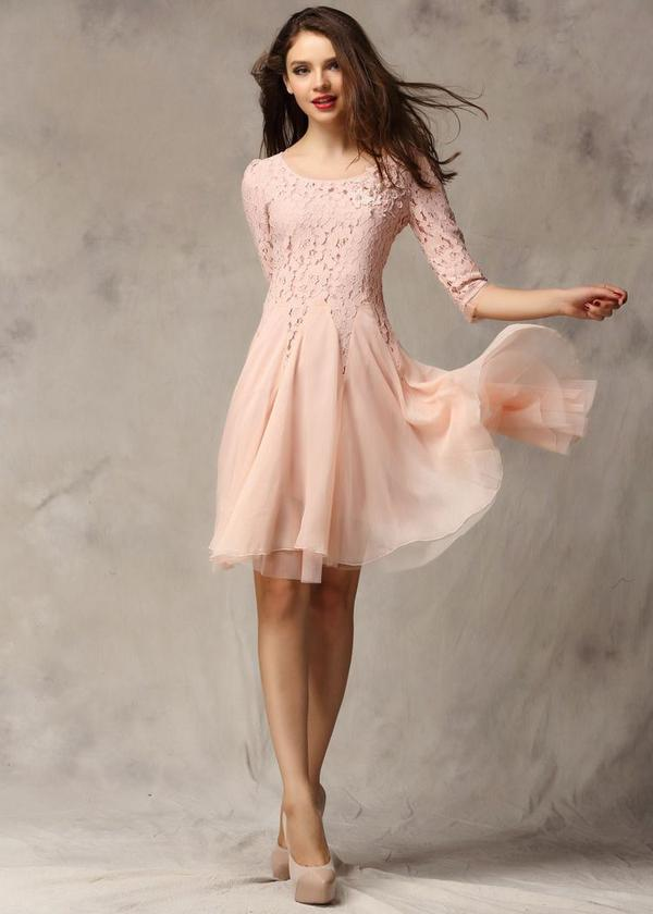 """Resultado de imagen para encaje rosado vestido"""""""