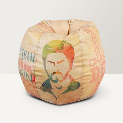 Fantastic Digital Printed Shah Rukh Khan Bean Bag Inzonedesignstudio Interior Chair Design Inzonedesignstudiocom