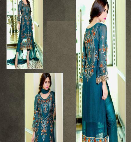 be0e01fb92 Buy Fabboom Sky Blue Colour Pakistani Long Dress Material Online in ...