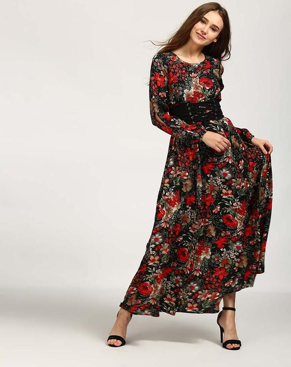 bc3d06a9c69d Buy Floral Mary Corset Maxi Dress Online in India at cooliyo ...
