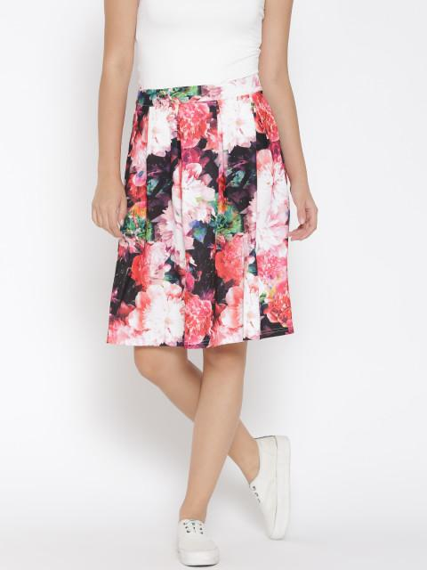 8d6d07f441 Buy Vero Moda Pink Floral Print Flared Skirt Online in India at ...