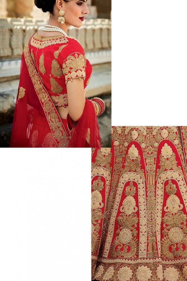 463bb044d80 Buy Red Designer Bridal Wedding Lehenga Online in India at cooliyo ...