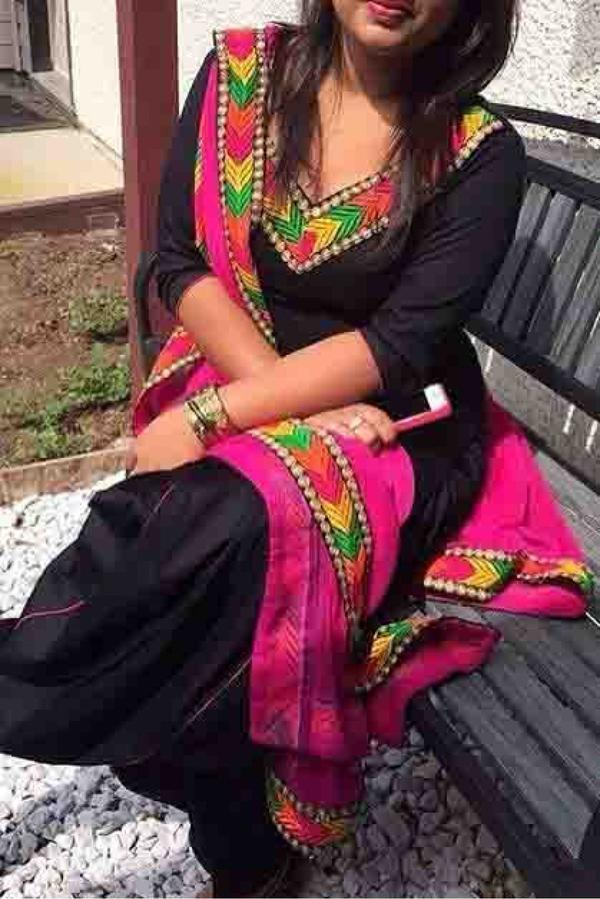 8eb1dff944 Buy Cotton Silk Patiala Suit In Black Colour Online in India at ...