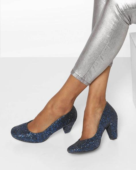 bd2c48822d7 Buy Glitter Pumps with Block Heels Online in India at cooliyo ...