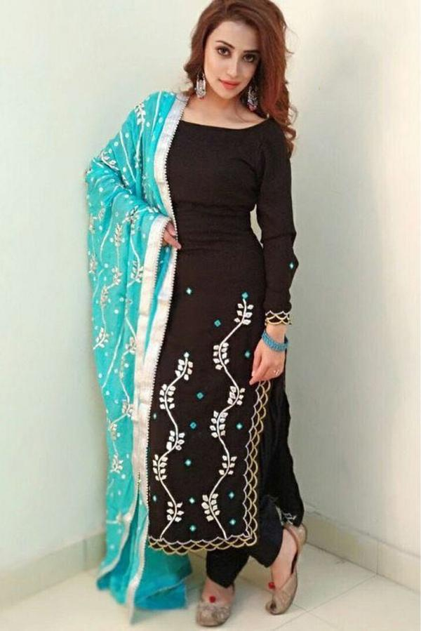 b586d908a7 Buy Silk Patiala Suit In Black Colour Online in India at cooliyo ...