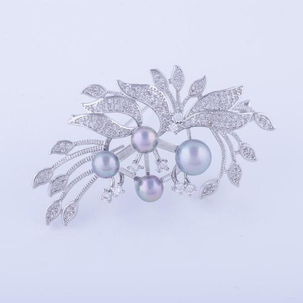 ee512ba39 Buy Gray Pearl Brooch or Saree Pin Online in India at cooliyo ...