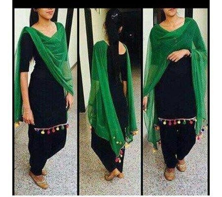 1cee3494d8 Buy Cotton Plain Patiala Suit Dupatta Material Online in India at ...