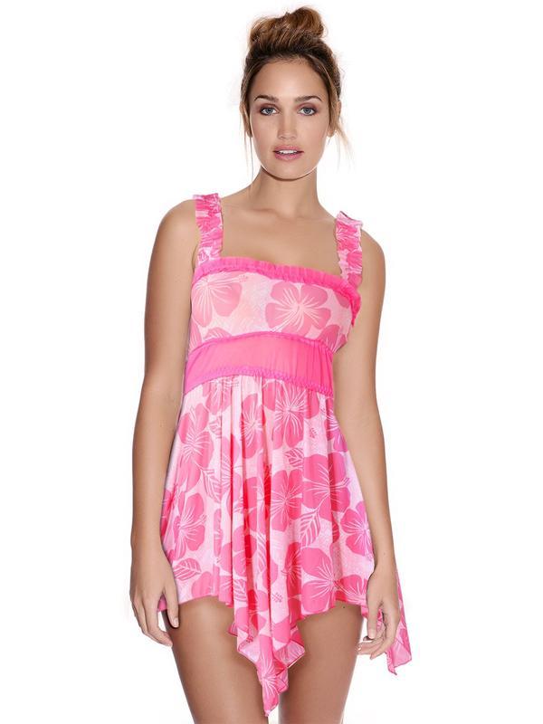 24760a754 Buy Pink Floral Printed Babydoll Nightwear Online in India at ...