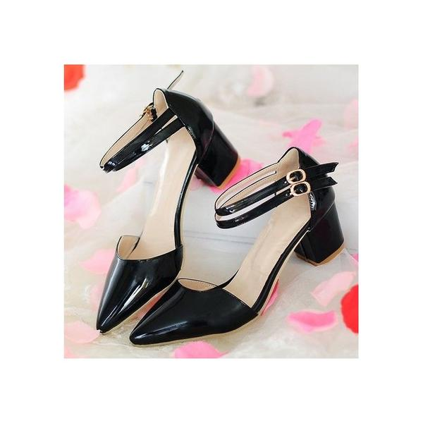 7cfd22c3a98 Buy black smart block heels Online in India at cooliyo   coolest ...