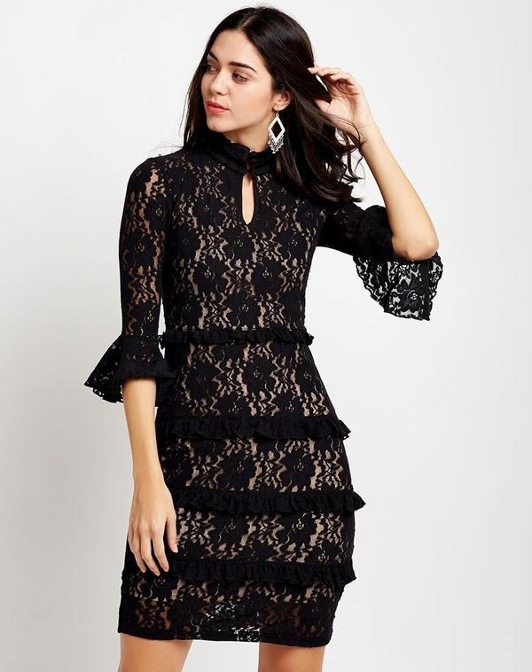 new lifestyle entire collection united kingdom Black Carla Lace Dress