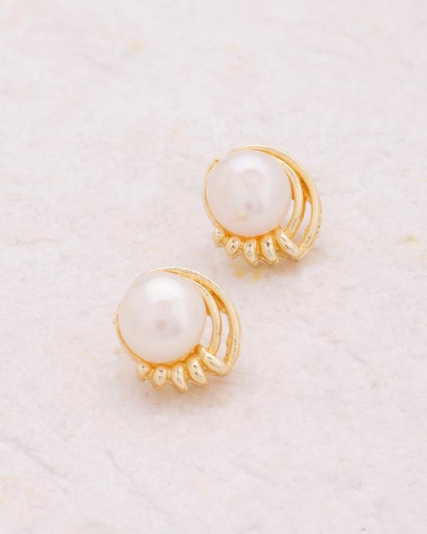 1aa2b4f76 Buy Tiny Pearl Embellished Stud Earrings Online in India at cooliyo ...