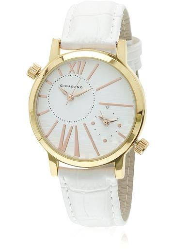 2f3506971 Buy Dtll60057 White Rose Gold Analog Watch Online in India at ...