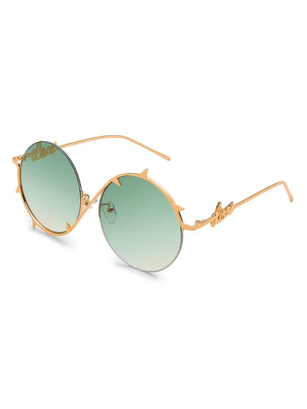 348c5dd2f9c Buy Ombre Lens Asymmetrical Frame Round Sunglasses Online in India ...