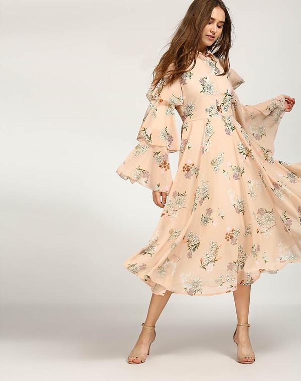 8e0b7ed41bda Buy Floral Amy Bell Sleeved Maxi Dress Online in India at cooliyo ...