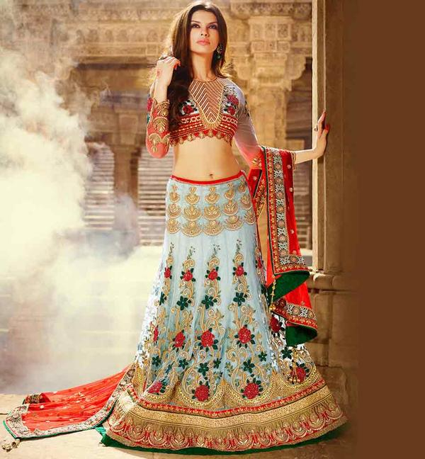 88ac87f577 Buy STYLISH BRIDAL LEHENGA CHOLI Online in India at cooliyo ...