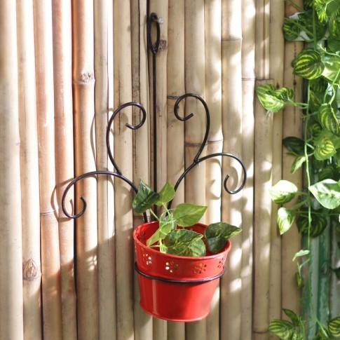 Buy Red Wall Mount Metal Planter Online In India At Cooliyo