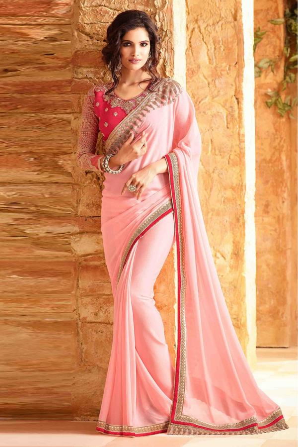 c63115eeb196e0 Buy Silk Saree In Baby Pink Colour Online in India at cooliyo ...