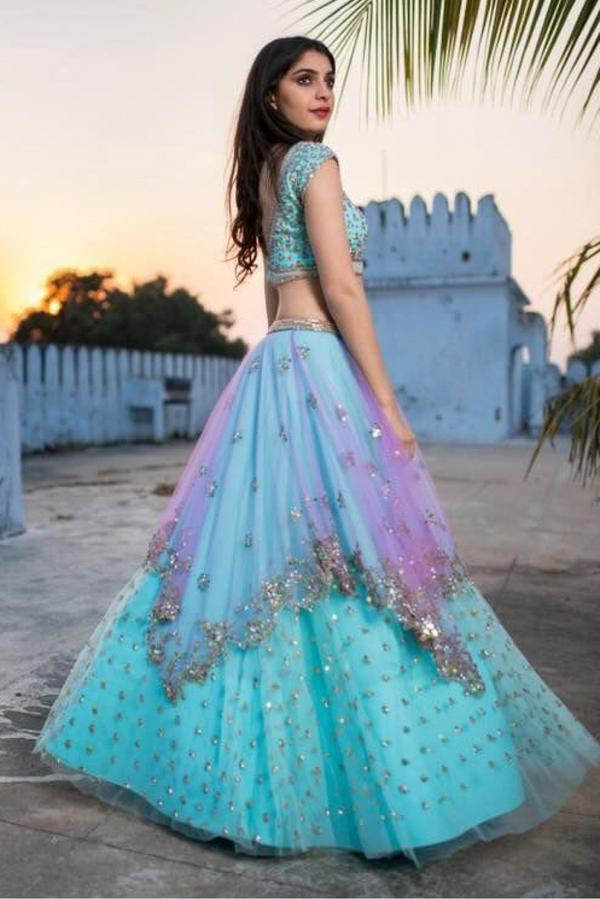 da82457127a7 Buy Net Lehenga Choli In Sky Blue Colour Online in India at cooliyo ...