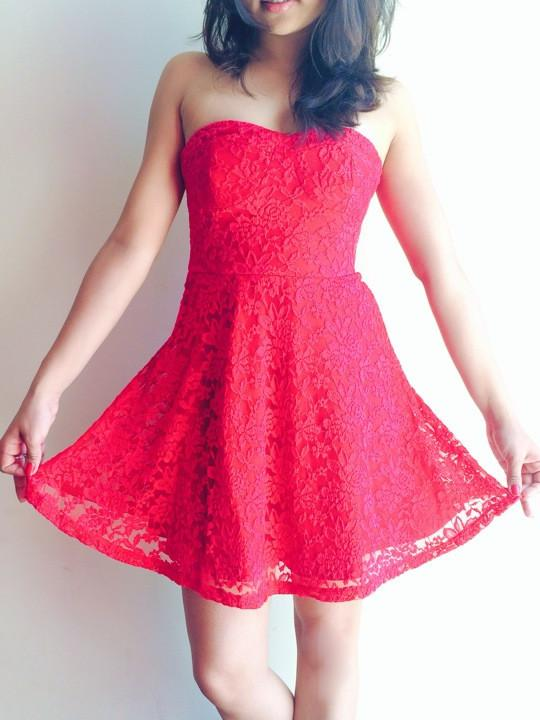 d8de43289363 Buy Lace Love Tube Skater Dress Online in India at cooliyo   coolest ...