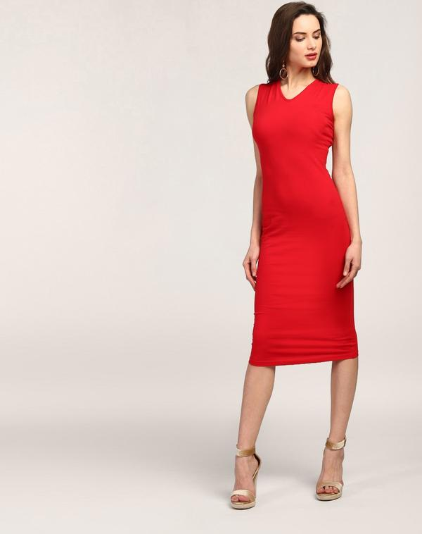 48426ae5ed Buy Red Juana Cut Out Bodycon Dress Online in India at cooliyo ...
