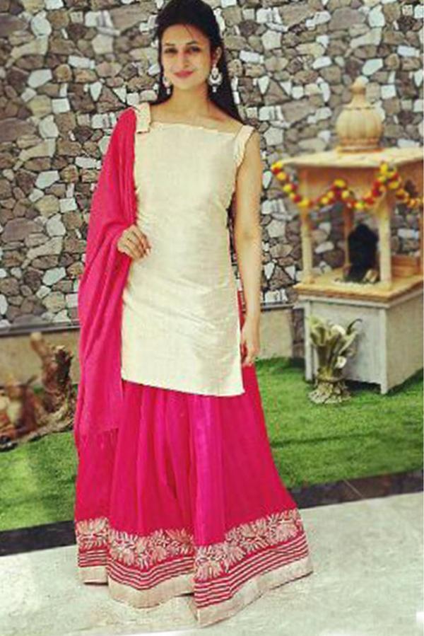 b5f8109758 Buy bhagalpuri silk party wear lehenga choli in pink colour Online ...