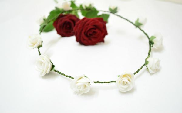 Buy tiara white flower crown online in india at cooliyo coolest tiara white flower crown image mightylinksfo