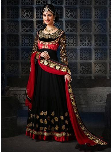 77cccb0ed2 Buy Black Floor Length Anarkali Salwar Kameez Online in India at ...