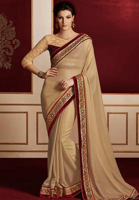 Elegant Gold Embroidered Sarees Image