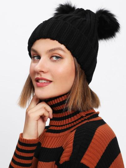Buy Pom Pom Ear Beanie Hat Online in India at cooliyo   coolest ... eb311ab0710