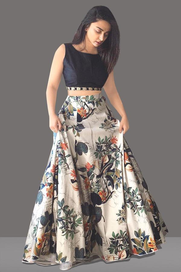 1849006701 Online Shopping for New Designer Off White Colour With Print Work Lehenga  Choli on Zipker.