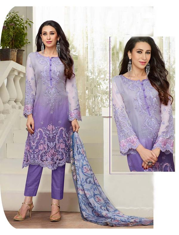 dc6e704604 Buy NEW DESIGNER VIOLET STRAIGHT PLAZO SUIT Online in India at ...