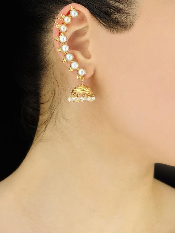 Buy Pearl Ear Cuffs With Jhumka Online In India At Cooliyo Coolest