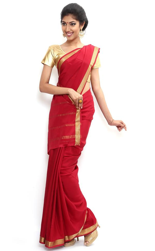 d9526ec00 Sudarshan silks wonderful pure mysore silk saree-red-sssb133-vq-crepe Image