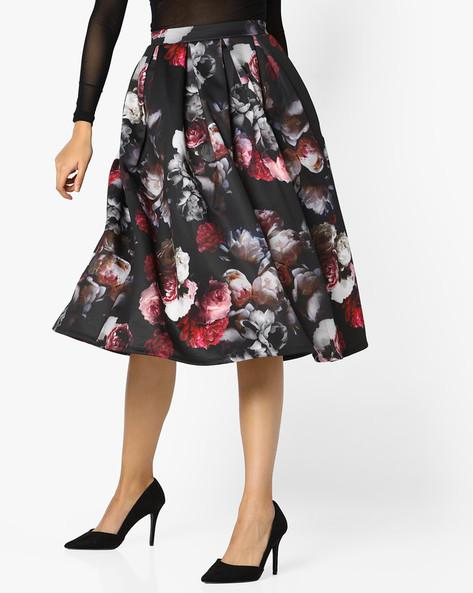 2b8cf6269db5 Buy Floral Print Pleated Skirt Online in India at cooliyo   coolest ...