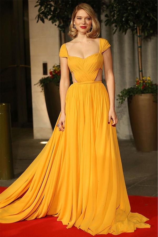 cc7fc1e518b3 Buy Youdesign French Crepe Gown In Yellow Colour Online in India at ...