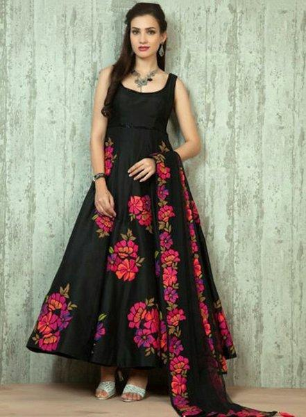 4d2ea994fd Buy Sexy Black Semi Stitched Anarkali Suit Online in India at ...