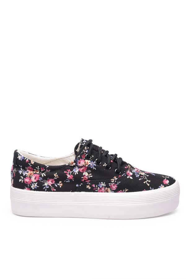 51c61a48bb32 Buy Black floral print trainers Online in India at cooliyo   coolest ...