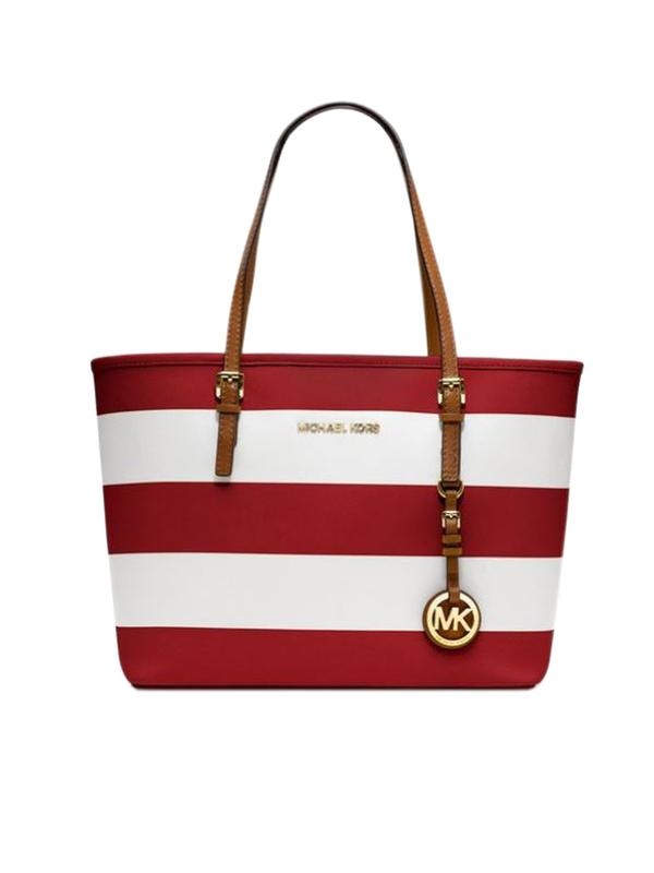 190629439d Buy Michael Kors Inspired Red Striped Handbag Online in India at ...