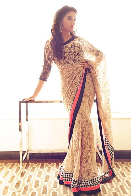 a54ff00343 Buy Manjula Feb - Asin in Chikan net Saree Online in India at ...