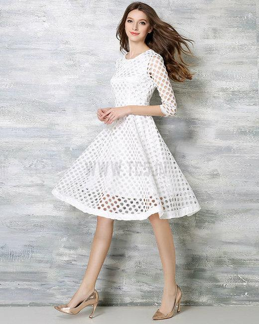 d948e1bc9b02 Buy EURO WHITE LACE DRESS Online in India at cooliyo   coolest ...