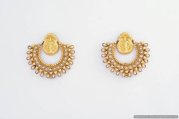 9a958d8e8 Buy BEAUTIFUL RAMLEELA STYLE GOLD PLATED EARRING Online in India at ...