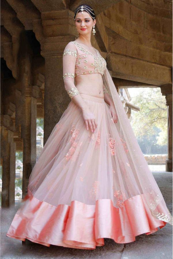 1f39cd5b22 Buy Cotton Silk Net Lehenga Choli In Baby Pink Colour Online in ...