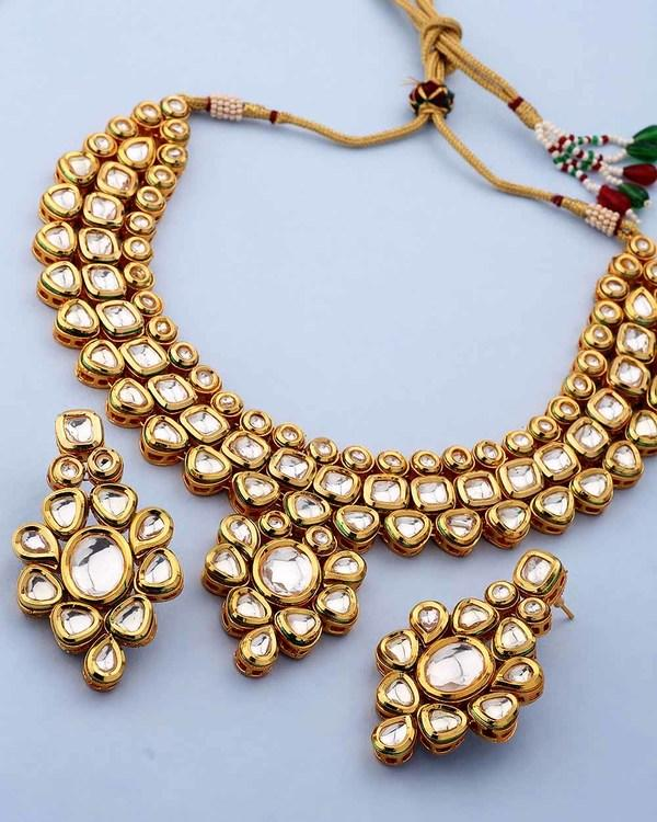 f059eb01cb Buy Kundan Necklace Set In Traditional Design For Women Online in ...