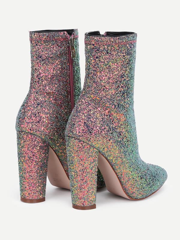 ec13deed914 Buy Sequin Overlay Pointed Toe Ankle Boots Online in India at ...