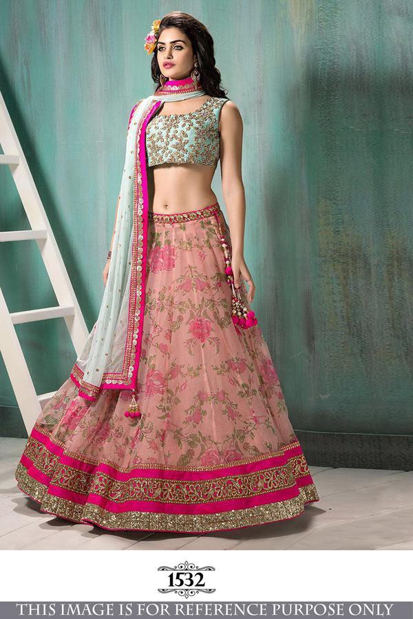 6de6eff68f5 Buy Pink   Fancy Look Wedding Ware Lehenga Online in India at ...