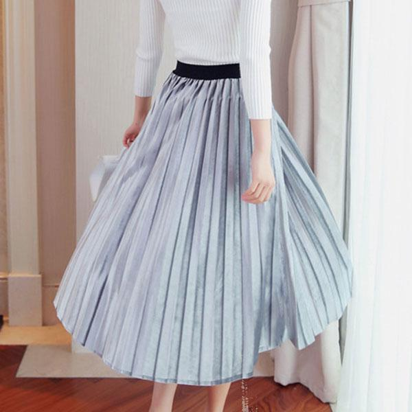 1a3de2d732 Buy Grey High Waist Pleated Skirt Online in India at cooliyo ...