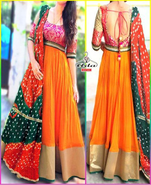 eb1fac22443 Buy Orange  Pink Gown Dress Online in India at cooliyo   coolest ...