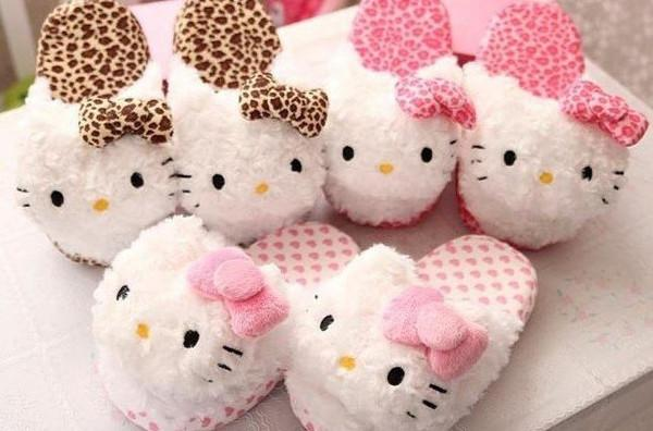 8c153ec9c61 Buy Plush Leopard Hello Kitty Slippers Online in India at cooliyo ...